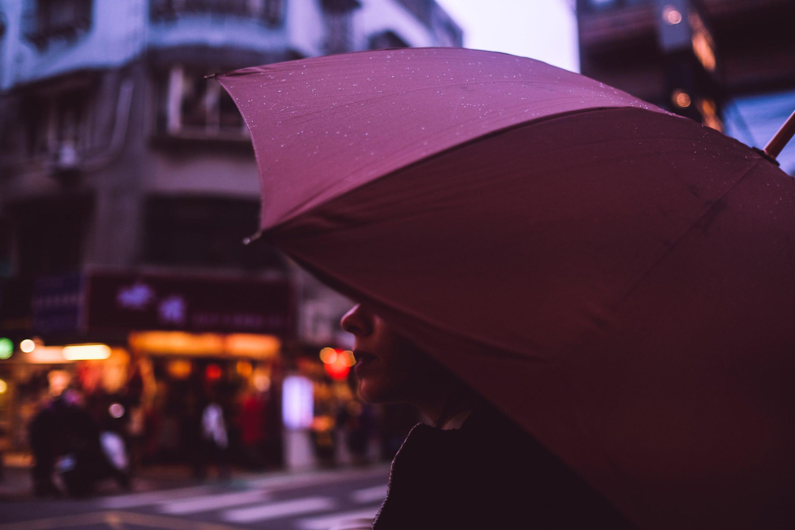 woman walking on the street of taipei