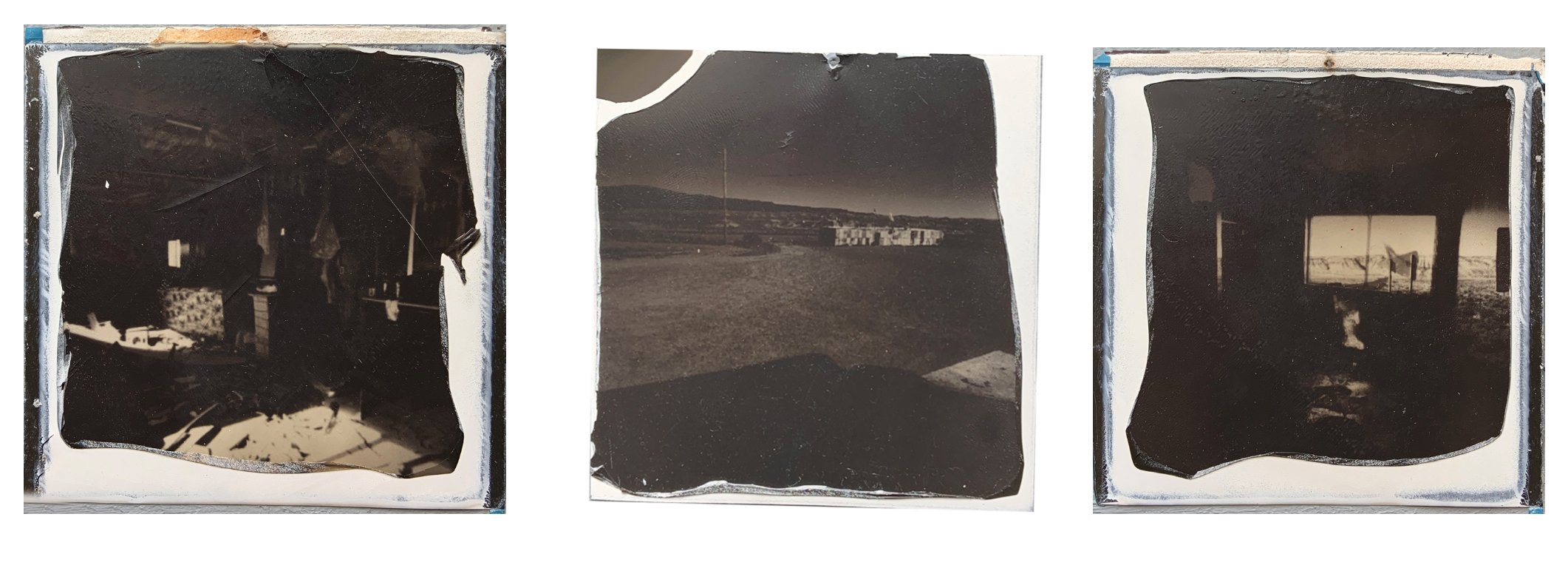 elisabetta riccio - triptych of an experiment with the polaroid sx-70 made in the navajo reservation