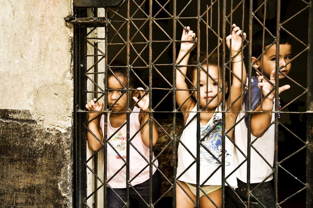 portrait of children in the streets of havana