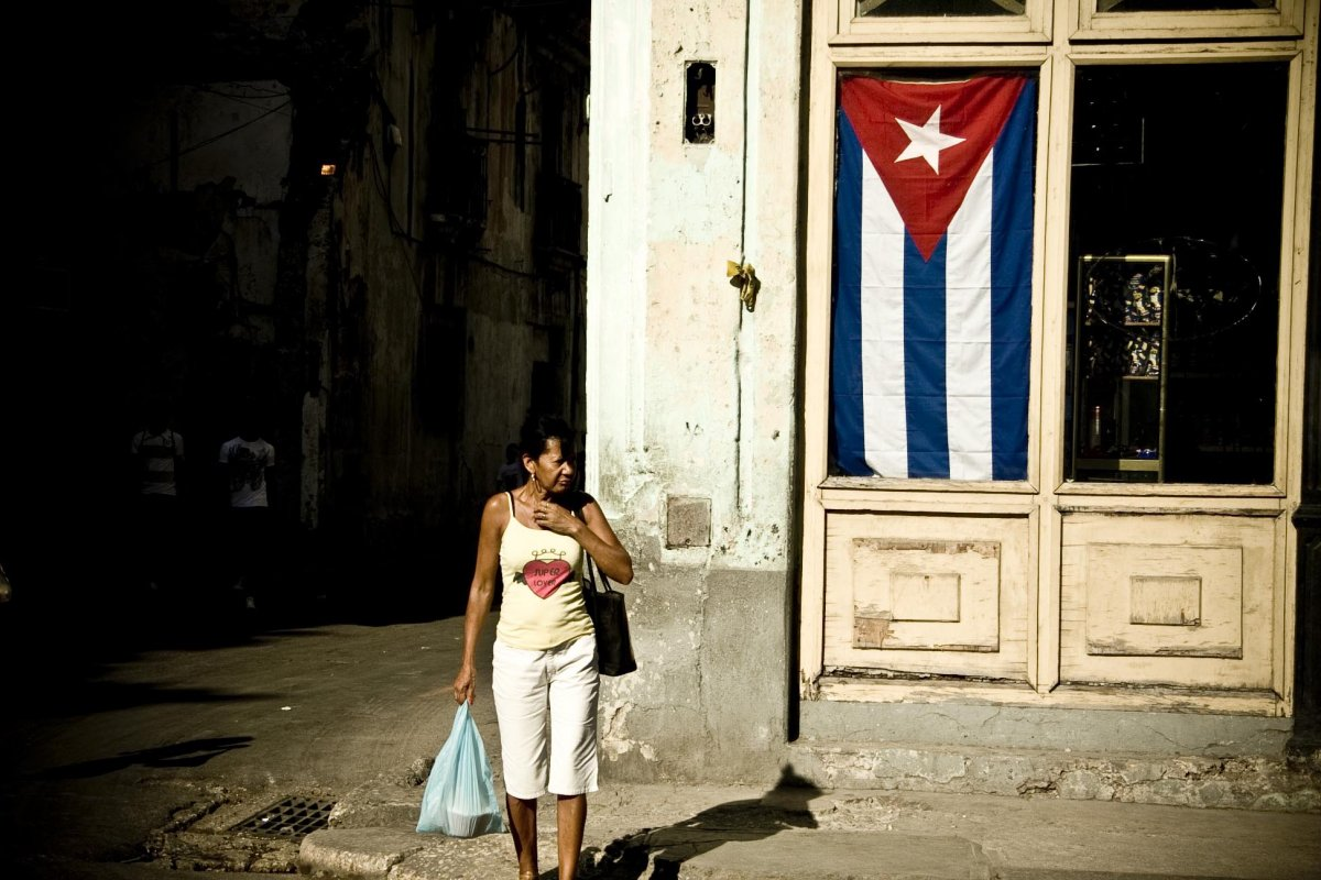the streets of Havana are full of the flags of the nation