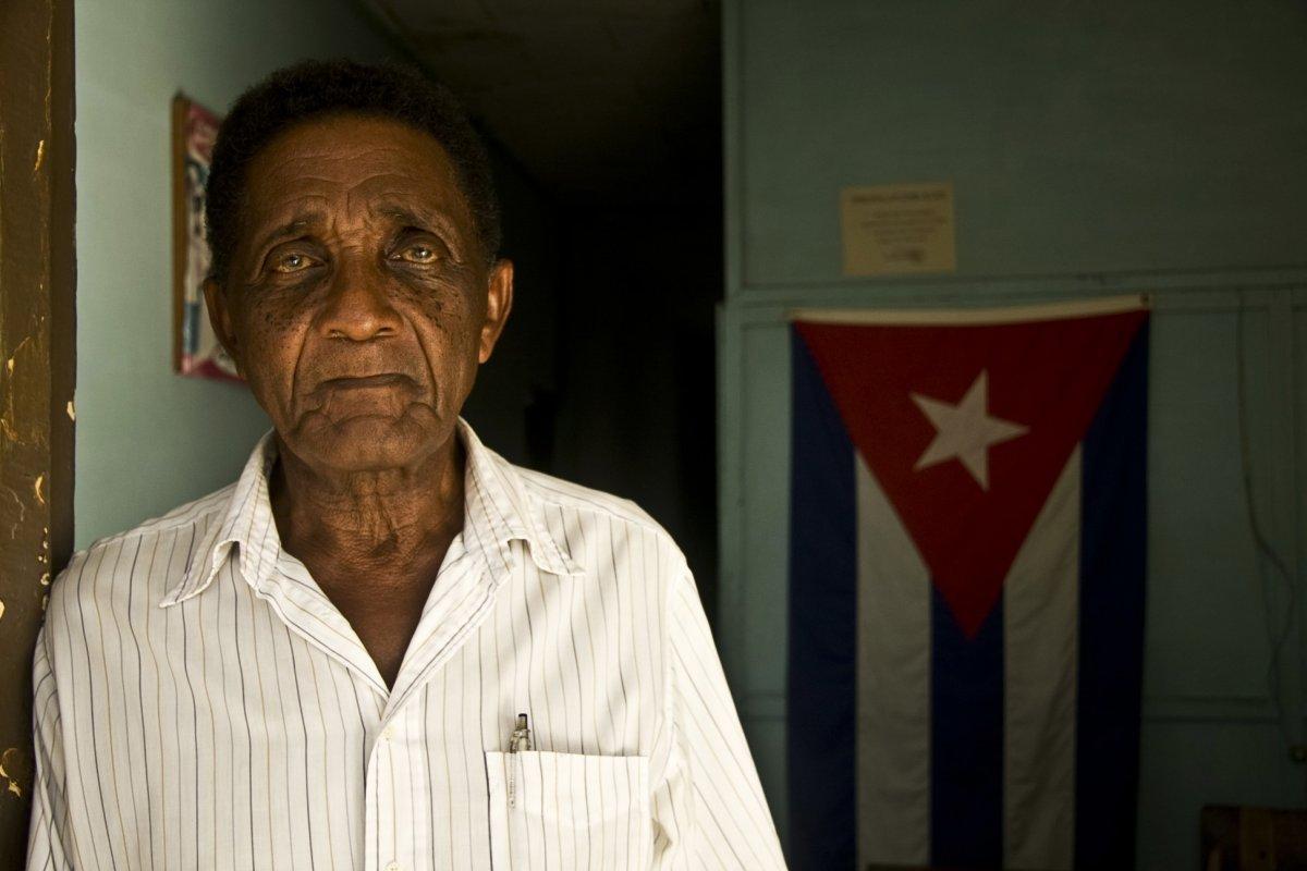 Portrait of a old man in Vinales, Havana